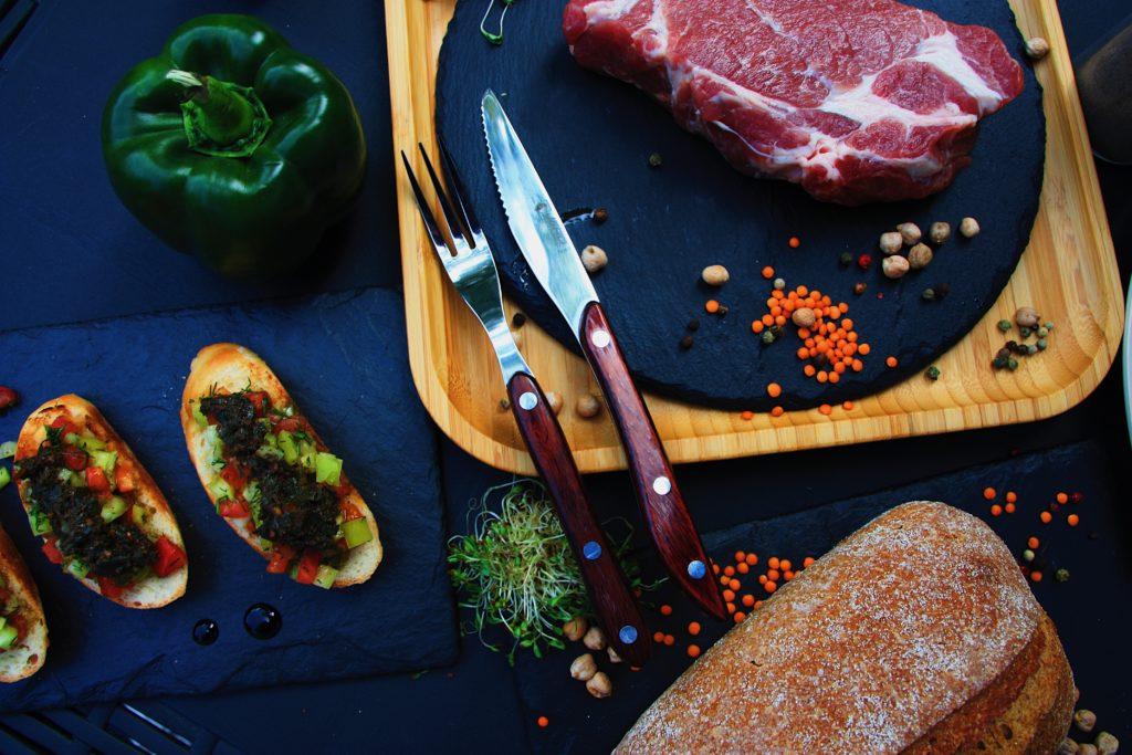 Нож и вилка для стейка Jero